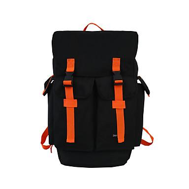 abordables Sacs-Grande Capacité Tissu Oxford Boutons sac à dos Bloc de Couleur Quotidien Noir / Orange / Gris / Homme / Automne hiver