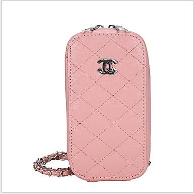 abordables Sacs-Femme Fermeture / Chaîne PU Mobile Bag Phone Couleur unie Blanche / Noir / Rose Claire