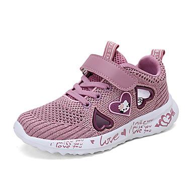 hesapli Kız Çocuk Ayakkabıları-Genç Kız Örümcek Ağı Atletik Ayakkabılar Küçük Çocuklar (4-7ys) / Büyük Çocuklar (7 yaş +) Rahat Yürüyüş Mor / Pembe Yaz