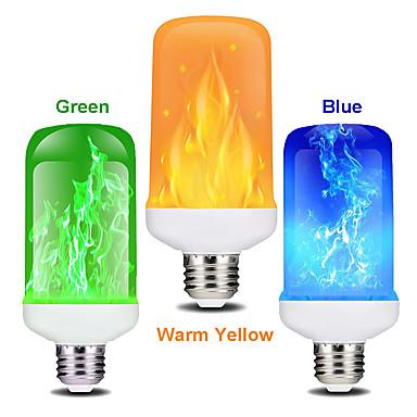 abordables Ampoules Globe LED-zdm 1 pc 7w led effet de flamme ampoule e27 clignotant économie d'énergie de flamme pour festival halloweenchristmaspaty ac85-265v
