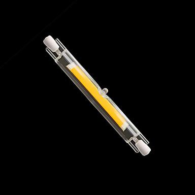 billige Elpærer-1pc mini glass r7s ledet lys 10w 118mm cob r7s lampe j118 led pære perfekt erstatte halogen lampe ac220-240v