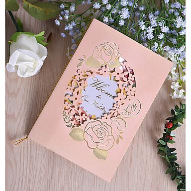 """abordables Faire-part mariage-Pli Parallèle Vertical Faire-part mariage 50pcs - Cartes d'invitation Papier nacre 7 1/2 """"×6 1/4"""" (19*13.5cm)"""