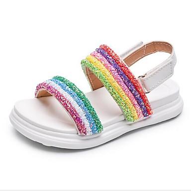 povoljno Dječje sandale-Djevojčice PU Sandale Mala djeca (4-7s) / Velika djeca (7 godina +) Udobne cipele Obala / Pink Ljeto