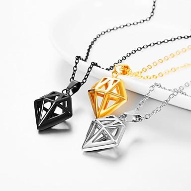 9b5404772f7 Women's Pendant Necklace Necklace Charm Necklace Romantic Sweet Fashion  Titanium Steel Gold Black Silver 55 cm Necklace Jewelry 1pc For Graduation  Gift ...