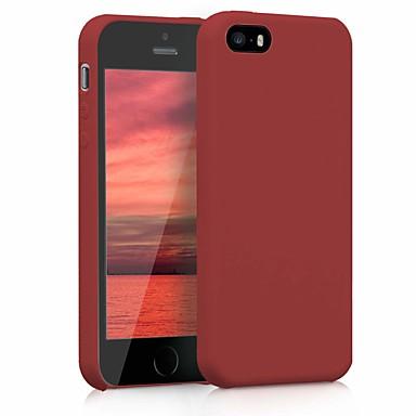 hesapli iPhone Kılıfları-Pouzdro Uyumluluk Apple iPhone SE / 5s / iPhone 5 Şoka Dayanıklı Arka Kapak Solid Yumuşak TPU / Silika Jel