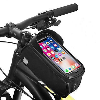 billige Sykkelvesker-Mobilveske 6.2 tommers Berøringsskjerm Bærbar Refleksbånd Sykling til iPhone 8/7/6S/6 iPhone 8 Plus / 7 Plus / 6S Plus / 6 Plus iPhone X Svart Sykling / Sykkel / 600D polyester