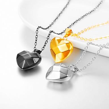 3584c966d32 Women's Pendant Necklace Necklace Charm Necklace Heart Romantic Fashion  Cute Titanium Steel Gold Black Silver 55 cm Necklace Jewelry 1pc For  Wedding ...