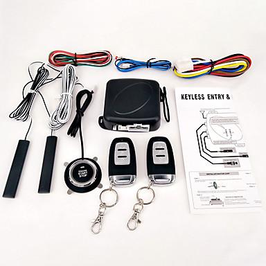 billige Bil Elektronikk-9pcs / set bil suv keyless oppstart motor start alarmsystem trykknapp fjernstart starter stopp auto