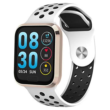 baratos Relógios Homem-Relógio inteligente Digital Estilo Moderno Esportivo Silicone 30 m Impermeável Monitor de Batimento Cardíaco Bluetooth Digital Casual Ao ar Livre - Preto Dourado Prata