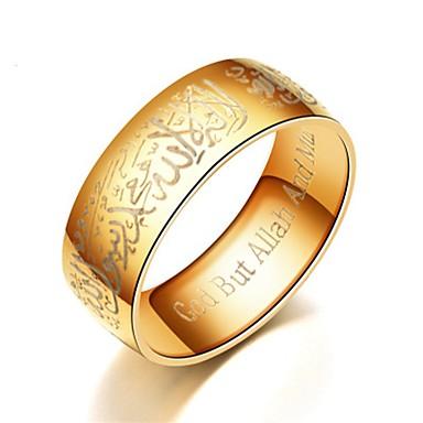 voordelige Dames Sieraden-Heren Dames Bandring Ring Staartring 1pc Zwart Zilver Blauw Titanium Staal Cirkelvormig Standaard Modieus Lahja Dagelijks Sieraden Geloof Gebed Cool