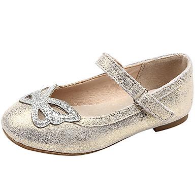 baratos Sapatos de Criança-Para Meninas Pele Rasos Little Kids (4-7 anos) Bailarina Dourado / Preto / Cinzento Primavera / Verão