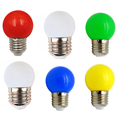 billige Elpærer-6pcs 1 W LED-globepærer 80-100 lm E26 / E27 G45 8 LED perler SMD 2835 Fest Dekorativ Jul Bryllup Dekorasjon Varm hvit Hvit Rød 220-240 V
