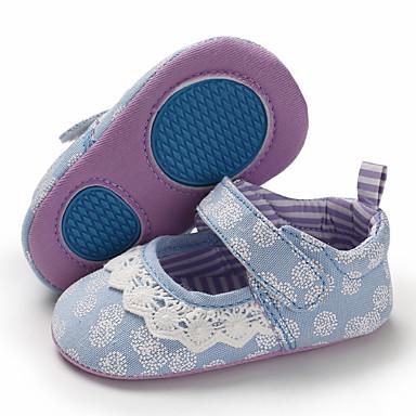baratos Para Crianças de 0-9 Meses-Para Meninas Lona Rasos Crianças (0-9m) / Criança (9m-4ys) Primeiros Passos Cinzento / Rosa claro / Azul Claro Primavera / Verão