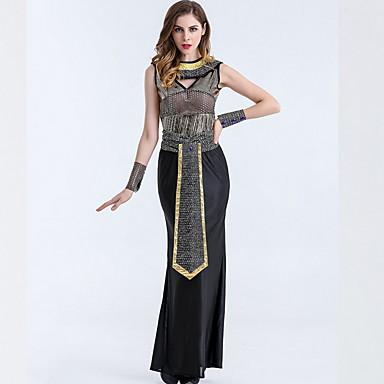 Kleopatra Kostüm Kadın's Peri Masalı Teması Cadılar Bayramı Performans Kostümler Kadın's Dans kostümleri Terylene Boncuklama
