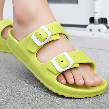 voordelige Damespantoffels & slippers-Dames Slippers & Flip-Flops Platte hak Ronde Teen EVA Zomer Zwart / Groen / Wit