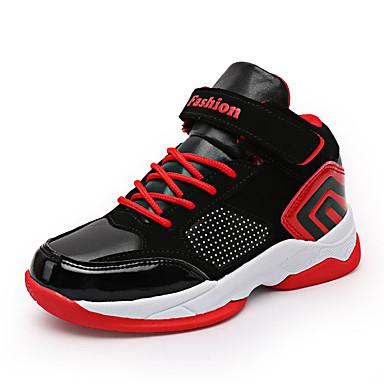 baratos Sapatos de Criança-Para Meninos Couro Ecológico Tênis Big Kids (7 anos +) Conforto Basquete Preto / Vermelho / Black / azul Outono