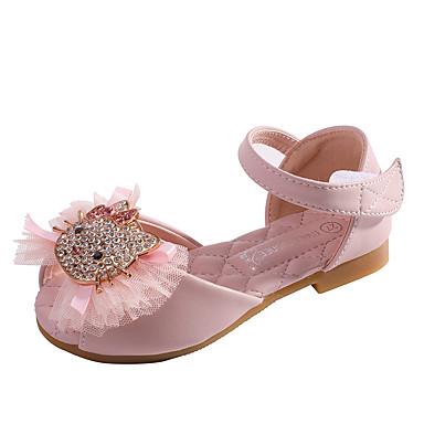 povoljno Dječje sandale-Djevojčice Mikrovlakana Sandale Dijete (9m-4ys) / Mala djeca (4-7s) Udobne cipele / Obuća za male djeveruše Cvijet Light Pink / Kristalne Proljeće / Ljeto
