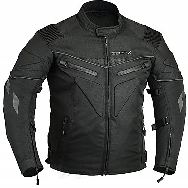 Kawasaki Motorcycle Clothes Jacket for Men/'s Cotton//Polyester Blend Spring /& Fall//Winter//Fall Protection//Best Quality//Breathable//Detachable,White,XXL