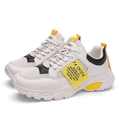 Erkek Ayakkabı Örümcek Ağı / Sentetikler Sonbahar / İlkbahar yaz Atletik Ayakkabılar Koşu / Yürüyüş Günlük / Ofis ve Kariyer için Beyaz / Sarı / Kırmzı / Bej