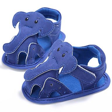 baratos Super Ofertas-Para Meninas Algodão Sandálias Crianças (0-9m) / Criança (9m-4ys) Primeiros Passos Branco / Azul / Cinzento Verão