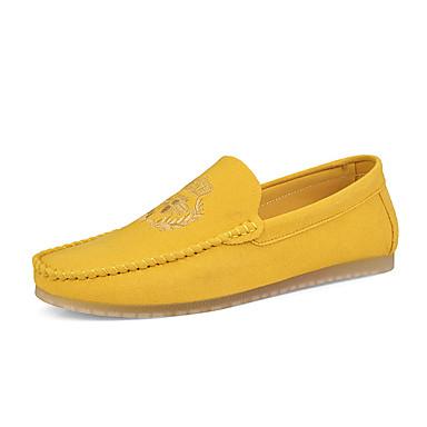 Erkek Ayakkabı Mikrofiber Bahar / Sonbahar Vintage / Günlük Mokasen & Bağcıksız Ayakkabılar Günlük / Parti ve Gece için Siyah / Yeşil / Turuncu