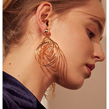 abordables Boucle d'Oreille-Femme Boucles d'Oreille Pneu Des boucles d'oreilles Bijoux Dorée / Argent Pour Quotidien 2pcs