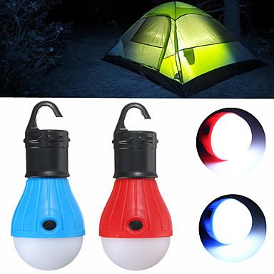 billige Lommelykter & campinglykter-Lanterner & Telt Lamper LED emittere 60 lm 3 lys tilstand Mini Nødsituasjon Liten størrelse Camping / Vandring / Grotte Udforskning Dagligdags Brug Multifunktion Rød Grønn Blå