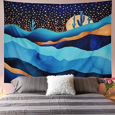 Bahçe Teması / Bohemian Tema Duvar Dekoru %100 Polyester Modern Duvar Sanatı, Duvar Halılar Dekorasyon