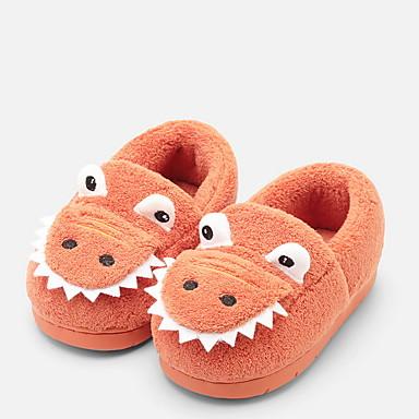 baratos Sapatos de Criança-Para Meninas Algodão Chinelos e flip-flops Little Kids (4-7 anos) Conforto Verde / Laranja / Amarelo Inverno
