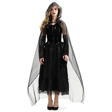Cadı Kostüm Kadın's Korkunç Cadılar Bayramı Performans Kostümler Kadın's Dans kostümleri Tül Tül