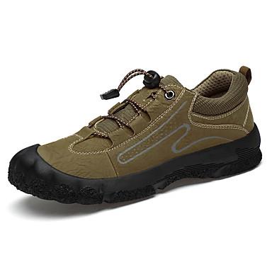 Erkek Ayakkabı Deri İlkbahar yaz / Sonbahar Kış Sportif / Günlük Atletik Ayakkabılar Dağ Yürüyüşü / Yürüyüş Atletik / Dış mekan için Siyah / Koyu Kahverengi / Haki