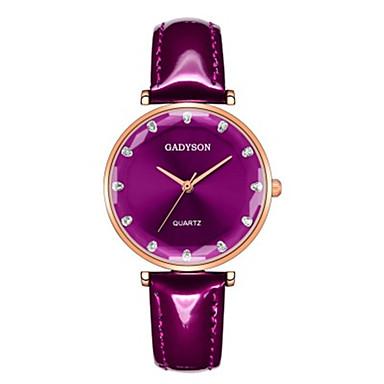 baratos Relógios Homem-Mulheres Relógios de Quartzo Casual Preta Branco Vermelho Couro PU Chinês Quartzo Preto Branco Roxo Novo Design Relógio Casual 1 Pça. Analógico
