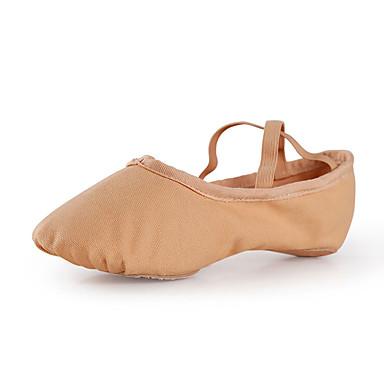 baratos Super Ofertas-Mulheres Sapatos de Dança Lona Sapatilhas de Balé Sapatilha Sem Salto Personalizável Camel / Rosa claro / Espetáculo / Ensaio / Prática