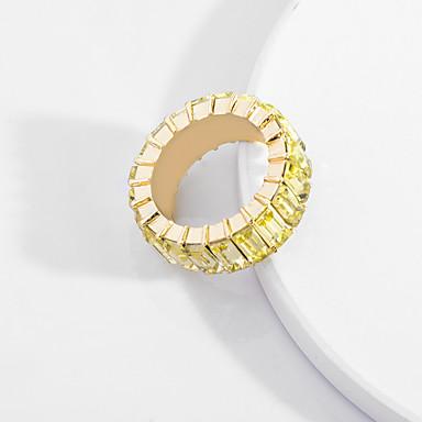 billige Motering-Dame Ring Kubisk Zirkonium 1pc Lyseblå Lysebrun Mørkegrønn Legering Enkel Europeisk trendy Daglig Gate Smykker geometriske Kul