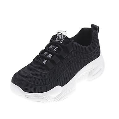Kadın's Spor Ayakkabısı Düşük Topuk Yuvarlak Uçlu PU Sportif / Baba Ayakkabısı Koşu / Fitnes Çalışması İlkbahar & Kış / İlkbahar yaz Siyah / Beyaz / Şeftali