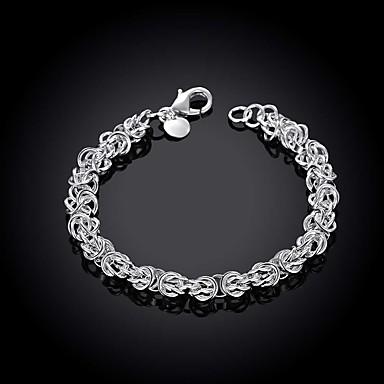 voordelige Herensieraden-Heren Armbanden met ketting en sluiting Cut Out Kostbaar Eenvoudig Modieus Messinki Armband sieraden Zilver Voor Dagelijks Werk / Verzilverd