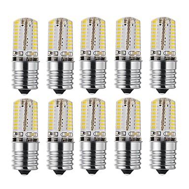 abordables Ampoules électriques-10pcs 3 W Ampoules Maïs LED 170-200 lm E17 72 Perles LED SMD 3014 Design nouveau Décorative Adorable Blanc Chaud Blanc Froid 12-24 V