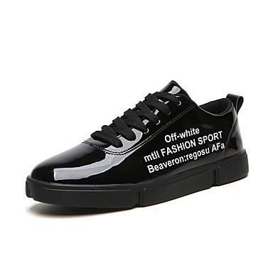 Erkek Ayakkabı PU Sonbahar Günlük Spor Ayakkabısı Günlük için Siyah / Beyaz / Altın
