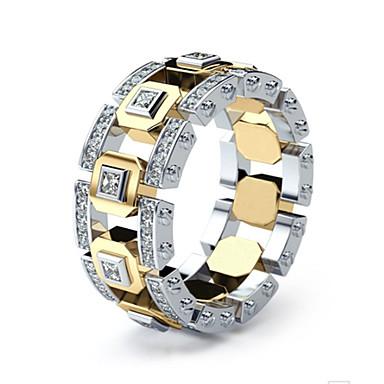 voordelige Herensieraden-Heren Ring Verlovingsring 1pc Goud Gesimuleerde diamant Legering Klassiek Vintage Koreaans Dagelijks School Sieraden Lucky