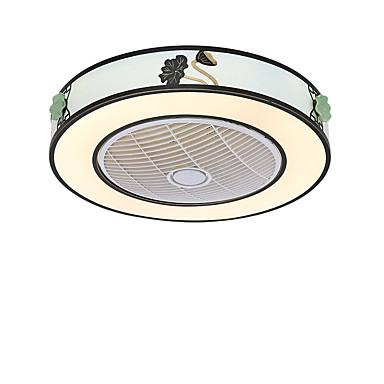 QINGMING® Dairesel / Mini Tavan pervanesi Ortam Işığı Boyalı kaplamalar Metal Mini Tarzı, Üç renkli 110-120V / 220-240V Sıcak Beyaz + Beyaz