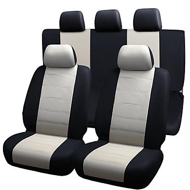 voordelige Auto-interieur accessoires-autostoelen beschermer zetels dekken elastische mesh materiaal composiet 2mm spons zetels cover-9st