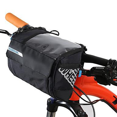 billige Sykkelvesker-3 L Vesker til sykkelstyre Bærbar Regn-sikker Anvendelig Sykkelveske Lær PVC 400D Nylon Sykkelveske Sykkelveske Sykling Utendørs Trening Sykkel