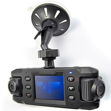 billige Bil-DVR-x8000 hd 140 vidvinkel dobbeltobjektiv bil dvr bil kamera kameraopptaker med gps