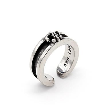 voordelige Dames Sieraden-Heren Ring Open Ring 1pc Zilver Zilver Cirkelvormig Vintage Standaard Modieus Dagelijks Sieraden Kruis Cool