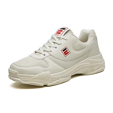 Erkek Ayakkabı PU İlkbahar yaz / Sonbahar Kış Sportif / Günlük Atletik Ayakkabılar Koşu Atletik / Dış mekan için Beyaz / Bej