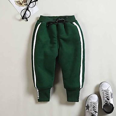 billige Bukser til gutter-Baby Gutt Grunnleggende Tegneserie Lapper Kortermet Normal Normal Bomull Bukser Svart