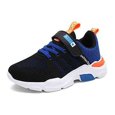 baratos Sapatos de Criança-Para Meninos Couro Ecológico Tênis Big Kids (7 anos +) Conforto Caminhada Amarelo / Vermelho / Azul Outono