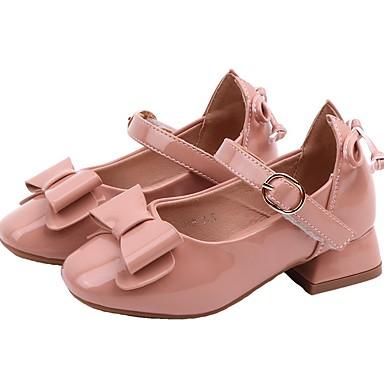 baratos Sapatos de Criança-Para Meninas Microfibra Saltos Little Kids (4-7 anos) Sapatos para Daminhas de Honra Preto / Rosa claro Outono