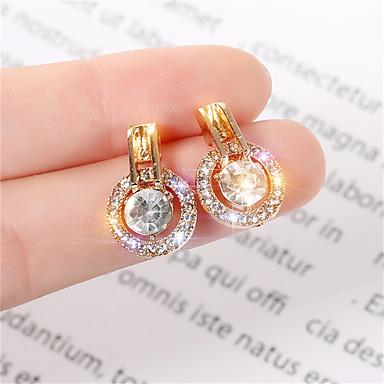 Kadın's Vidali Küpeler Küpe Klasik Prenses Koreli Tatlı Moda Zarif Simüle Elmas Küpeler Mücevher Altın / Gümüş Uyumluluk Parti Yıldönümü Günlük Tatil Çalışma 1 çift