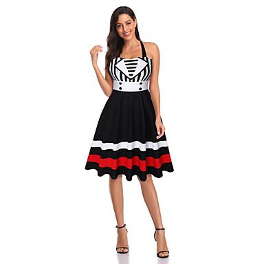 Eski Tiplerden Esinlenilmiş Elbiseler Kadın's Kostüm Siyah Eski Tip Cosplay Spandex